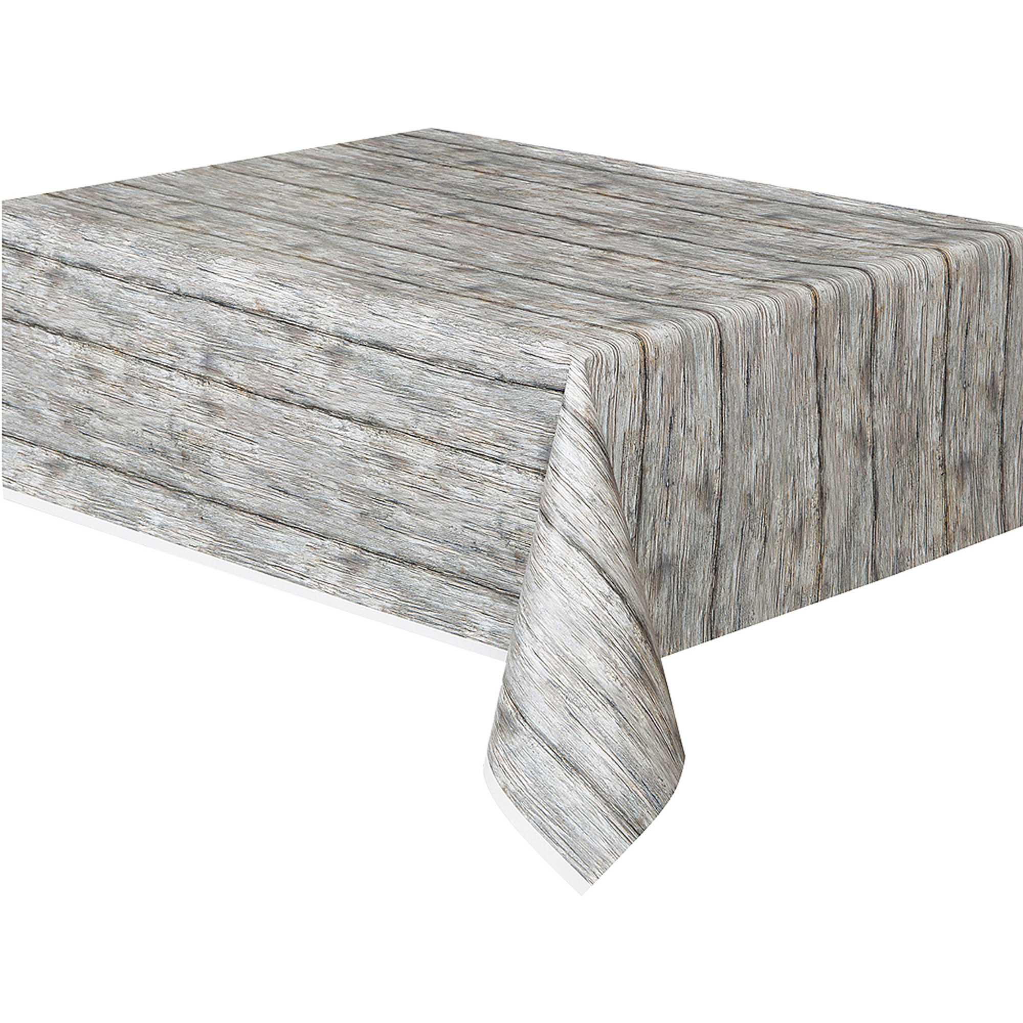 "Plastic Rustic Wood Table Cover, 108"" x 54"""