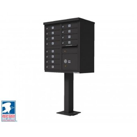 QualArc CBU-12-BZ 72 x 42 x 30 in. 1570 12 Door Cluster Box Unit for Tall Pedestal Stucco Columns, Bronze 1570 Cluster Box Unit