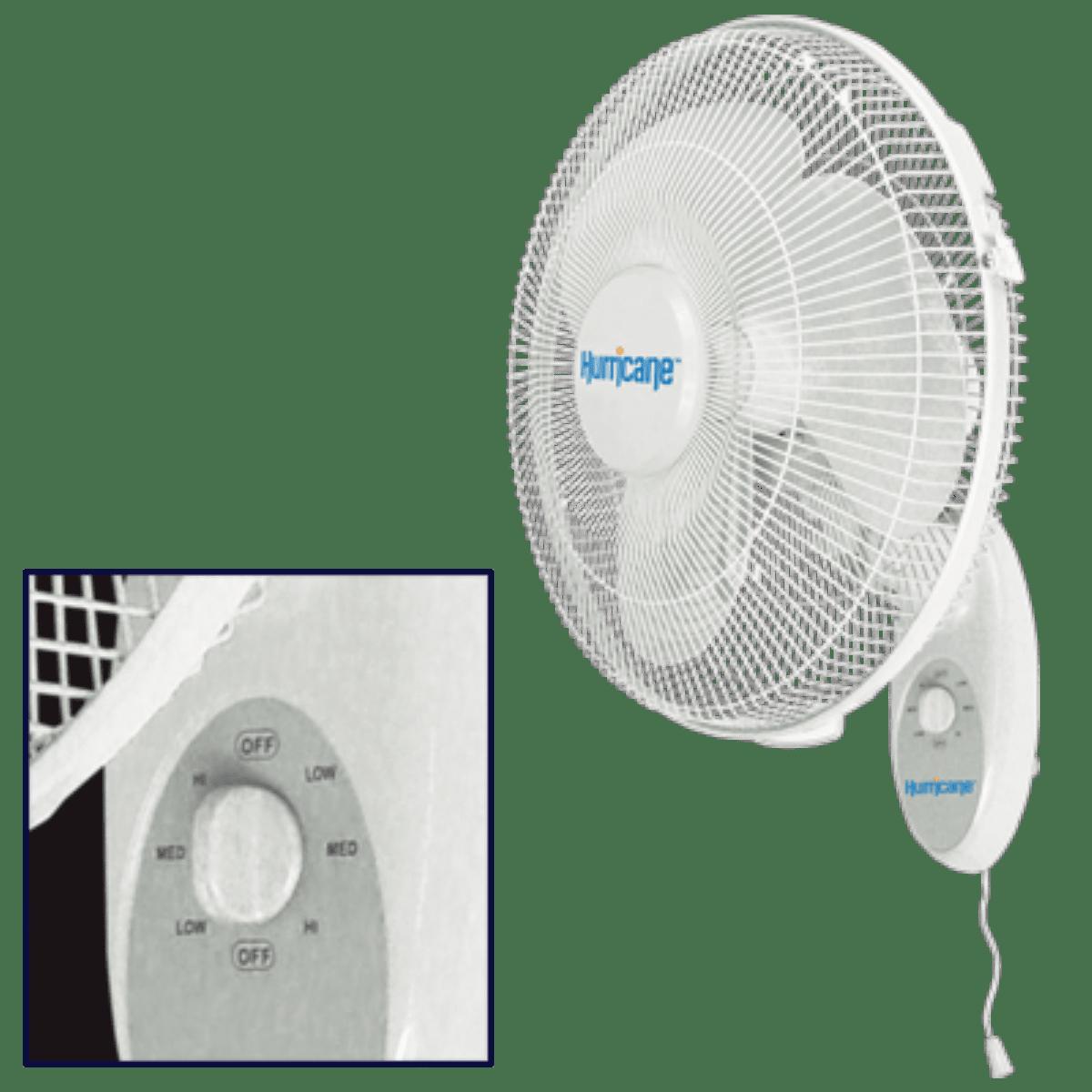 Hurricane 736505 Supreme Wall Mount Fan 16 inch