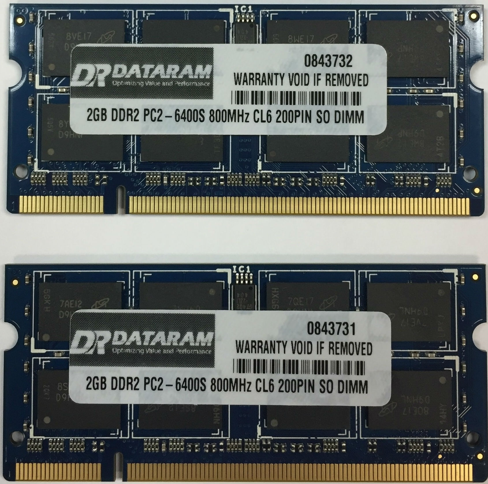 4GB (2X2GB) DDR2  MEMORY FOR  Hewlett-Packard Pavilion Dv5-1120ew