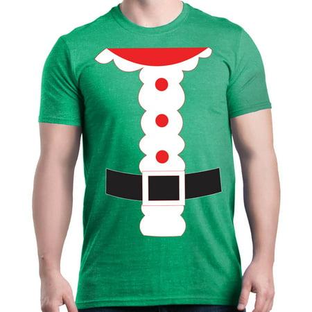 Shop4Ever Men's Santa Suit Costume Christmas Merry Xmas Graphic T-shirt