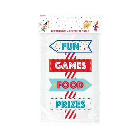 Circus Carnival Centerpiece Decoration, 18 in, 1ct (Beach Theme Centerpiece Ideas)
