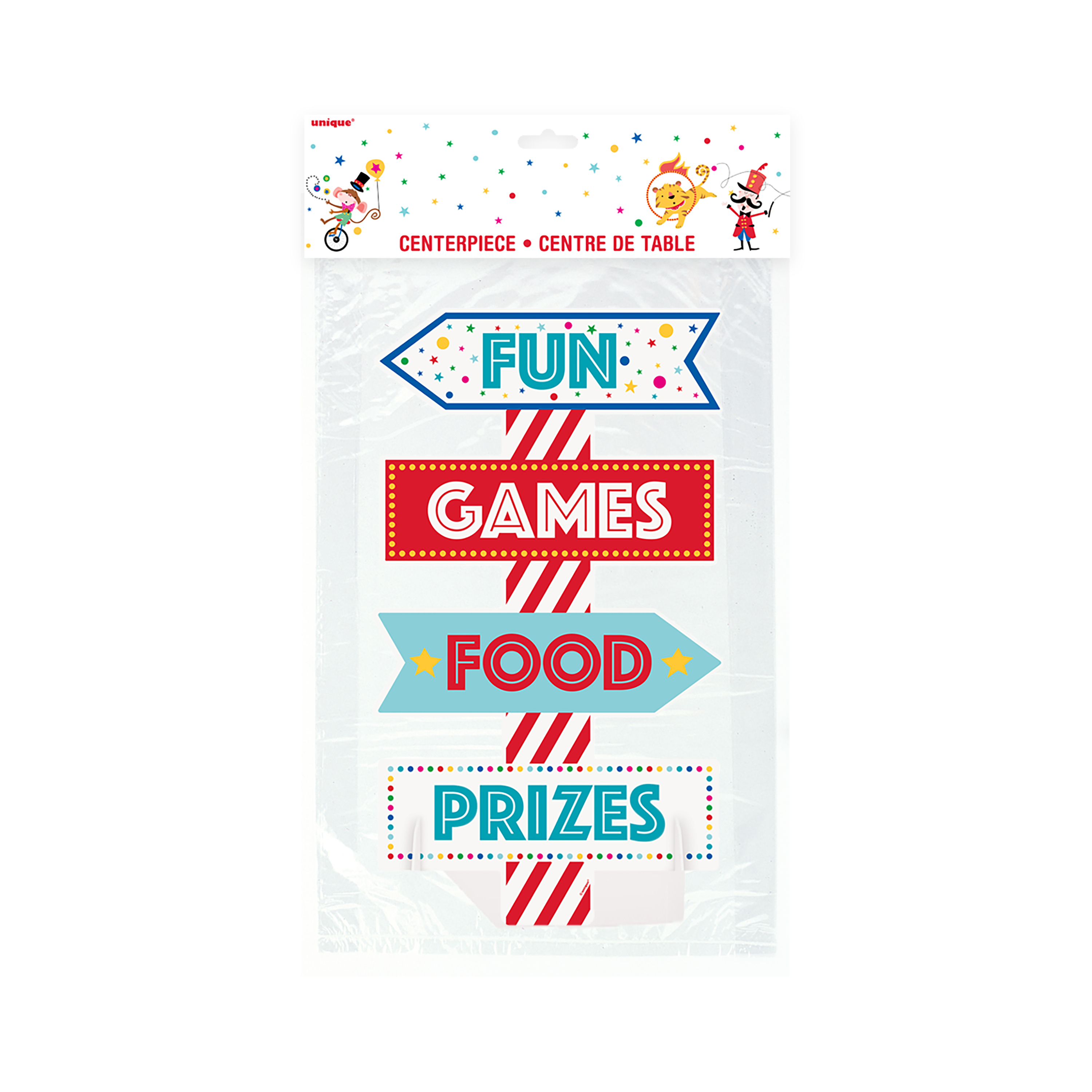 Circus Carnival Centerpiece Decoration, 18 in, 1ct