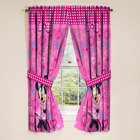 Minnie Mouse Girls Bedroom Curtains, 2 Piece - Walmart.com