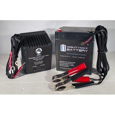 12V 5AH Battery for Solar Fence Energizer S20 + 12V 1Amp Charger