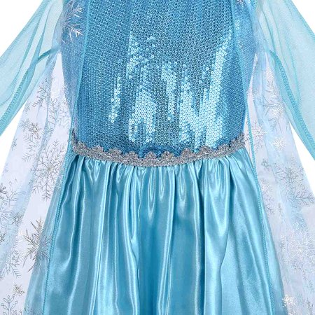 Elsa Dress for Girls Child Costume Princess Dress up Cosplay Kids Party Dress with Accessories - image 5 of 7