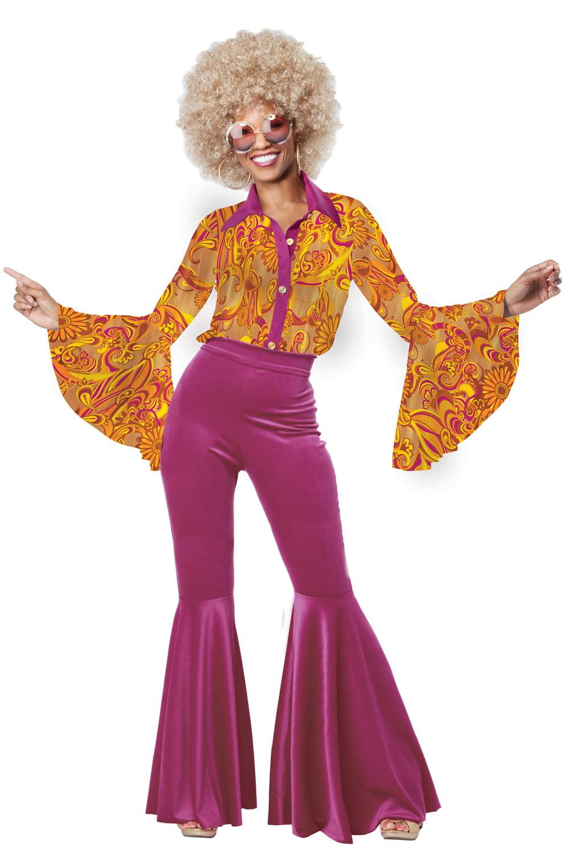 womens 70s boogie fever disco halloween costume walmartcom