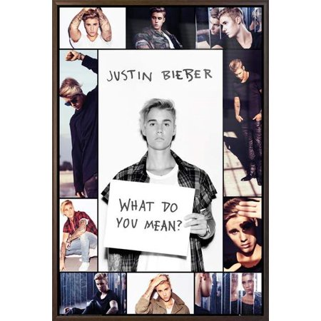 Justin Bieber - Framed Music / Personality Poster / Print (Photo Grid / Collage) (Size: 24