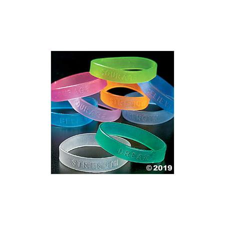 Jelly Inspirational Sayings Rubber Bracelets](80s Jelly Bracelets)