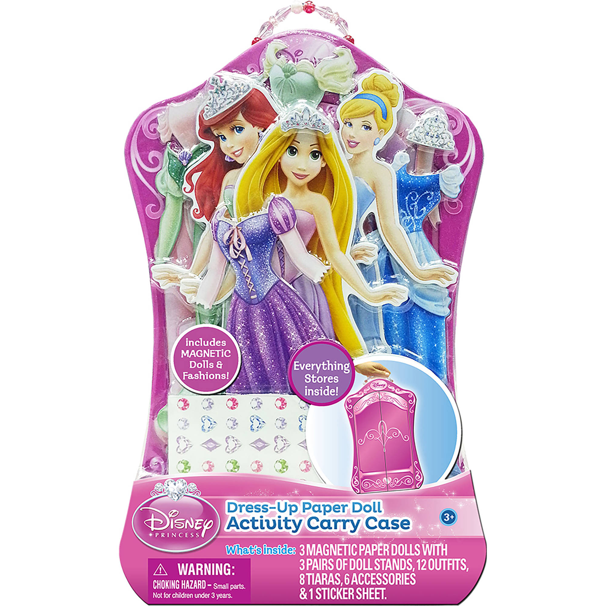 Princess Dress-Up Paper Doll Activity Carry Case