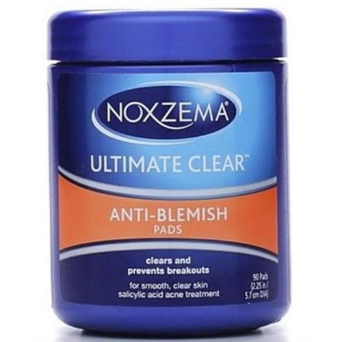 Noxzema Ultimate Clear Anti-Blemish Pads 90 Each (Pack of 3)