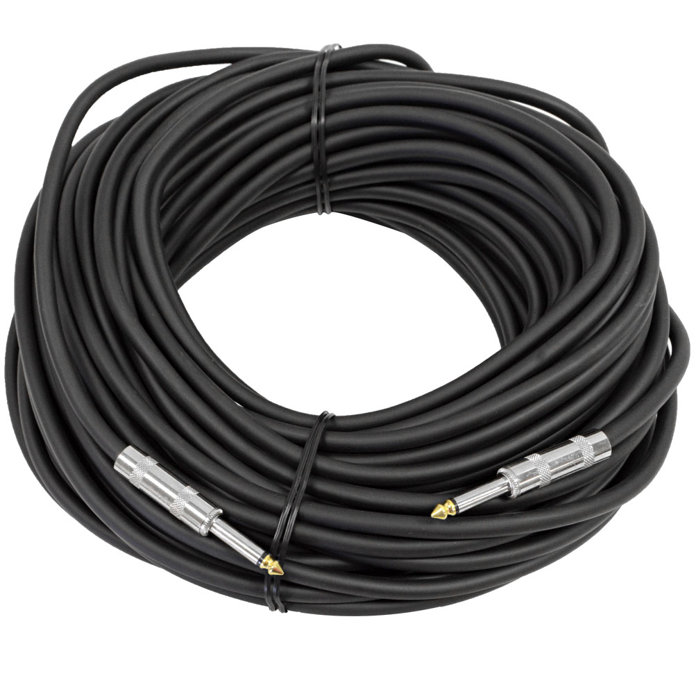 "Seismic Audio 100' 1/4"" to 1/4 SPEAKER CABLE 14 Gauge NEW PRO AUDIO Black - FS100"