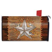 Harvest Barnstar Welcome Magnetic Mailbox Cover Fall Primitive Standard