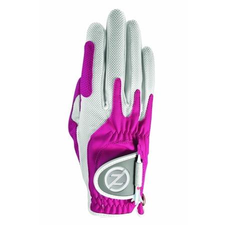 Pink Golf Glove - Zero Friction Ladies Golf Glove, Right Hand, One Size, Pink