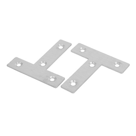 60mmx60mmx1mm T Shaped Flat Repair Plates Corner Joint Fastener Connector 40pcs - image 2 of 3