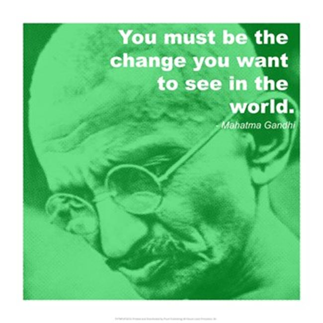 Pivot Publishing - A PPAPVP2623 GandhiChange Quote -14 x 14- Poster Print