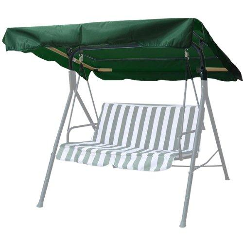66x45 green swing canopy replacement porch top cover park...