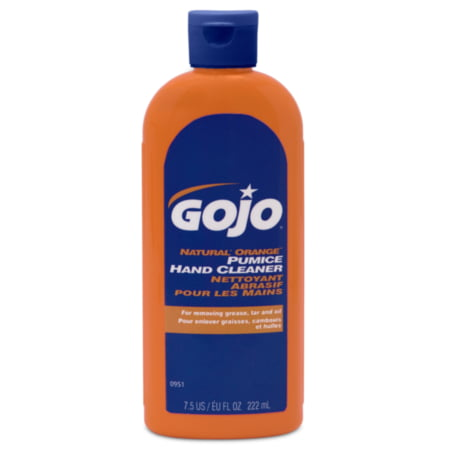 Hand Cleaner With Pumice, Natural Orange, 7.5 oz., GOJO,