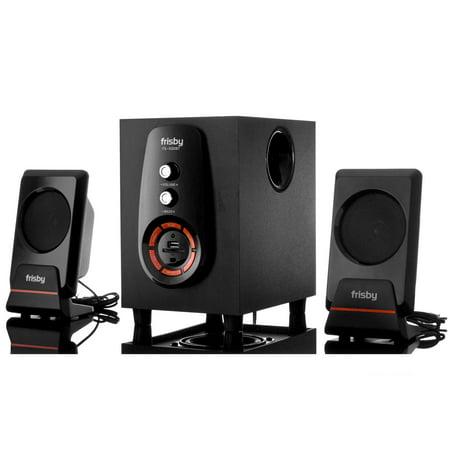 Frisby FS-6300BT Bluetooth Wireless 2.1 CH Media Subwoofer Speaker System w/ Remote (3-Piece)