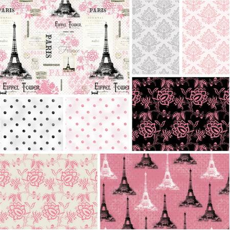 David Textiles Paris Pink 44 Quot Cotton Fabric Walmart Com