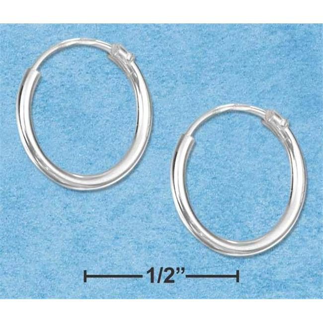 Sterling Silver 12mm Endless Wire Hoop Earrings