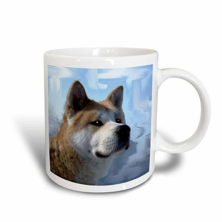 3dRose Akita Portrait, Ceramic Mug, 15-ounce