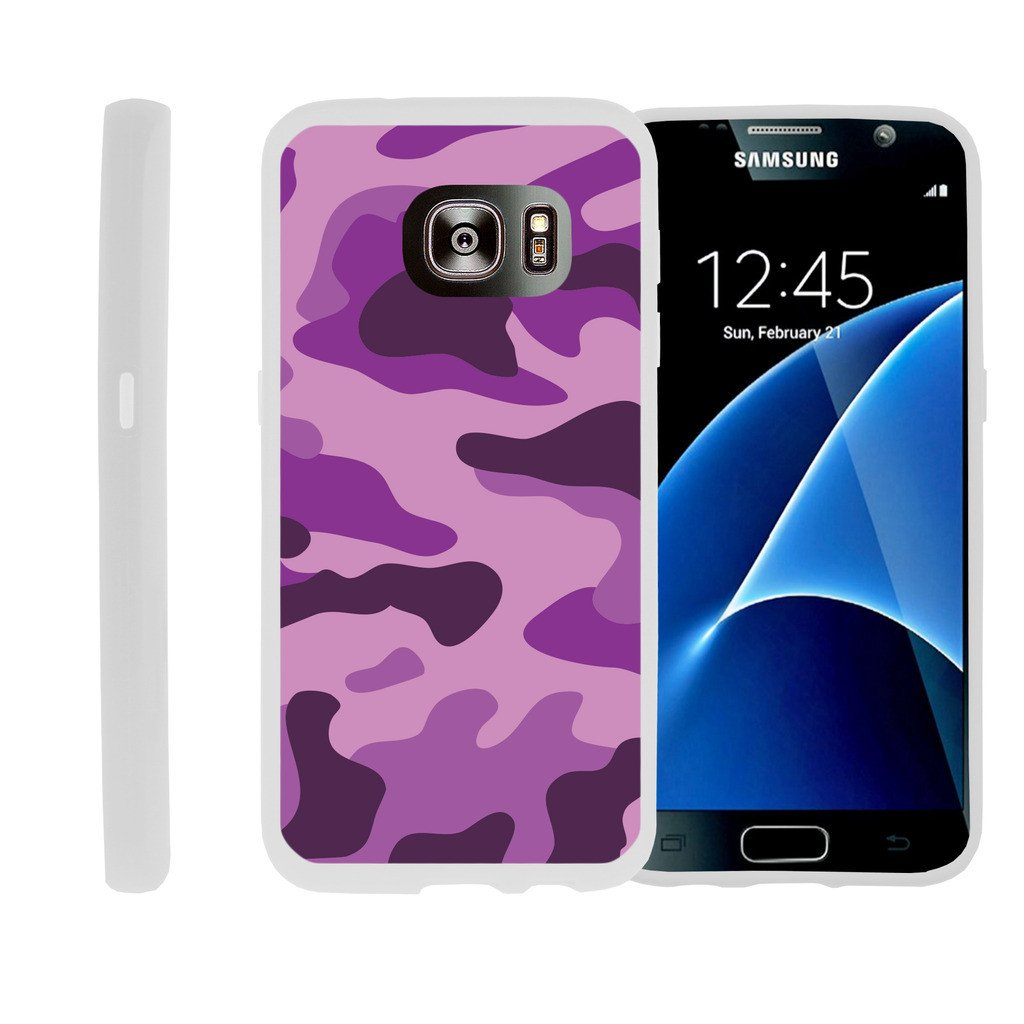 Flexible Case for Samsung Galaxy S7 Edge | SM-G935 Case [ Flex Force ] Lightweight Flexible Phone Case - Purple Camouflage