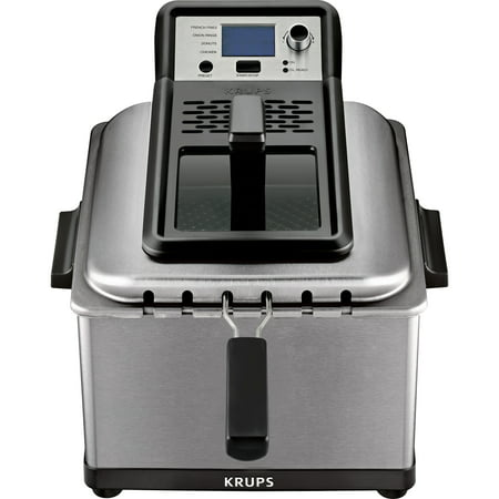 KRUPS Stainless Steel Professional Deep Fryer with 3 Frying Baskets, 1