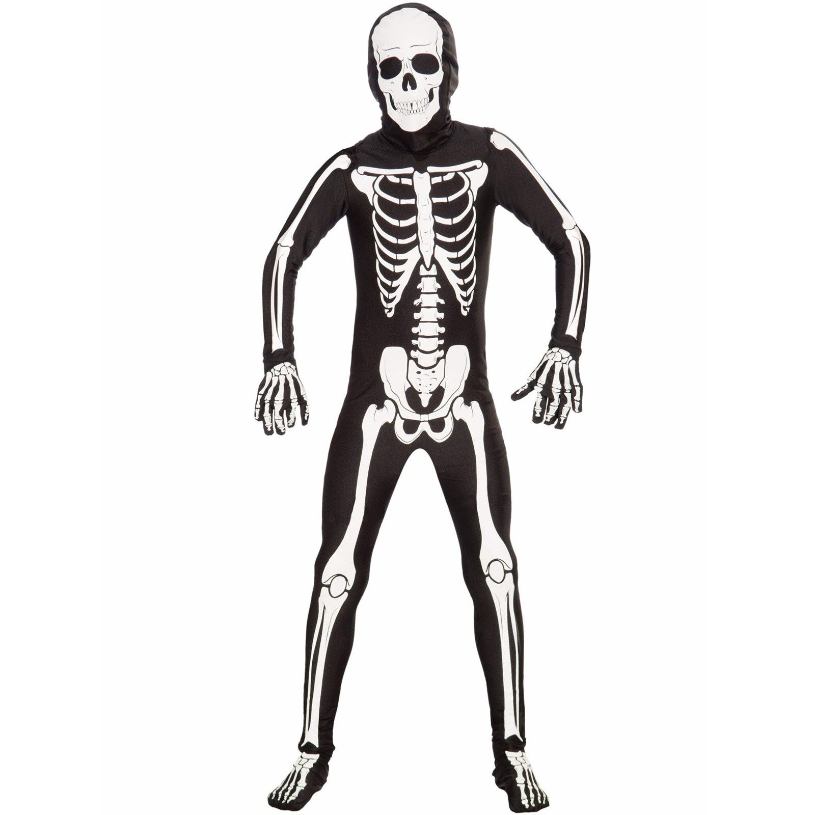 Kids Unisex Bone Suit Costume