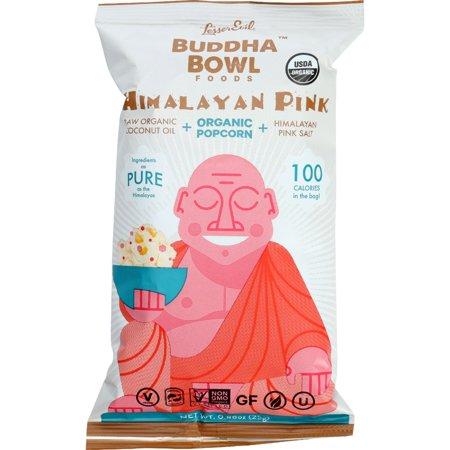 Lesser Evil Popcorn - Organic - Himalayan Pink - .88 Oz - Case Of 18 (Pink Popcorn)