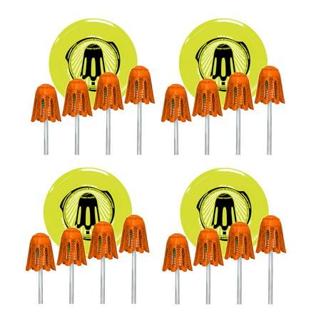 Wham-O Fun Frisbee Disc Field Goal Pole Set Outdoor Backyard Toy Game (4 Pack)
