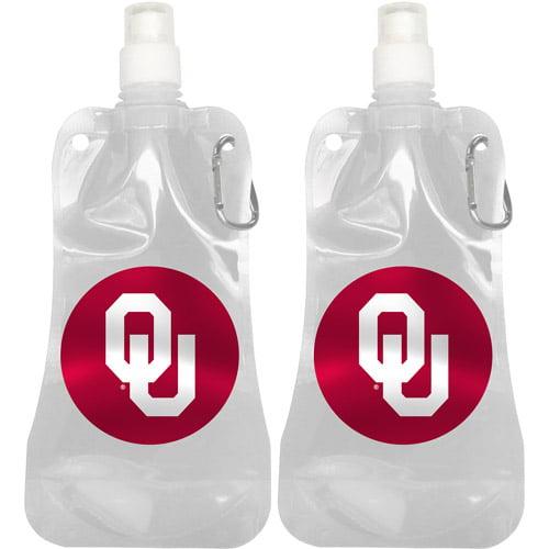 NCAA 16 oz Oklahoma Sooners Foldable Water Bottle Set, 2pk