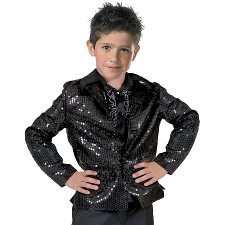 Black Disco Jacket Child Halloween Costume