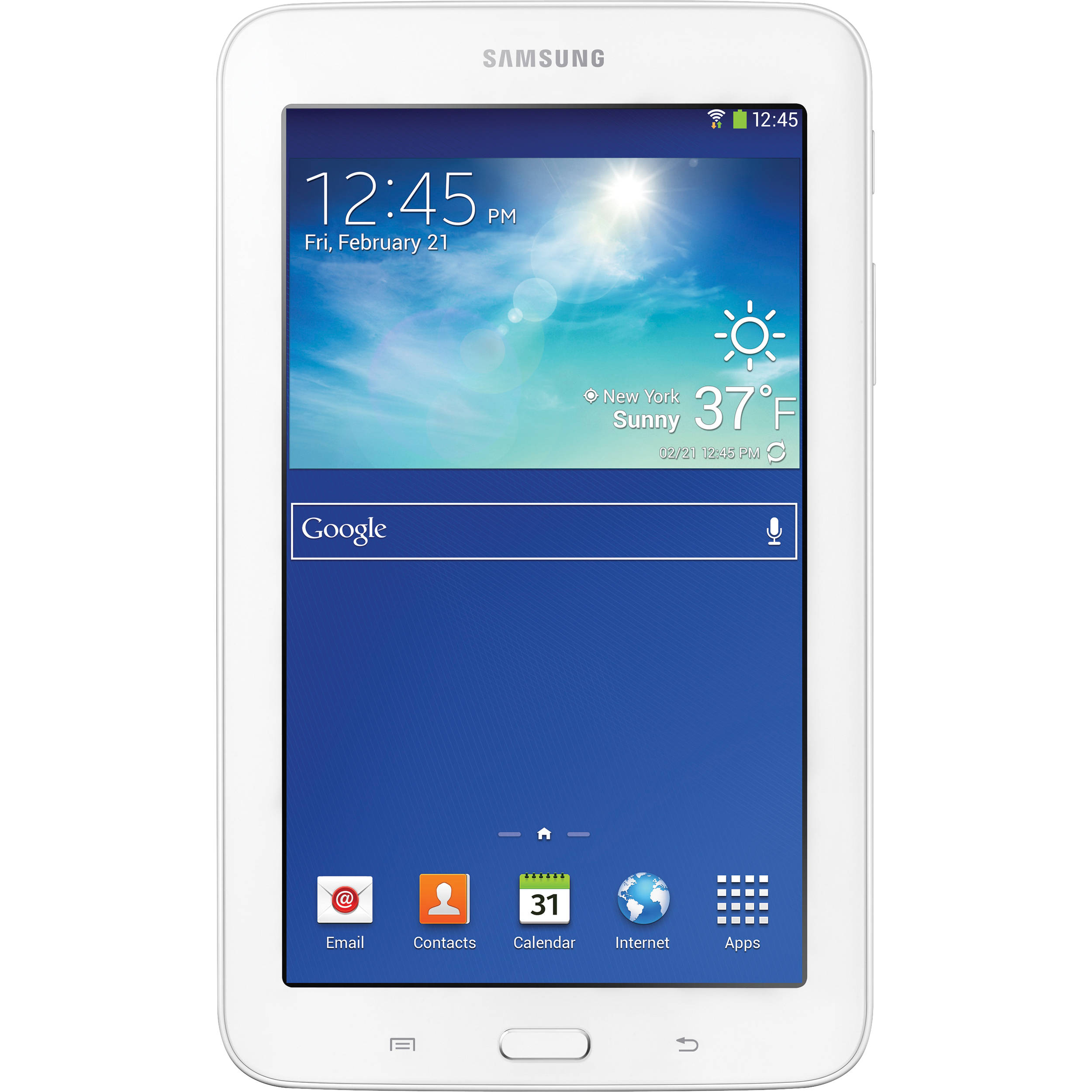"Refurbished Samsung Galaxy Tab 3 Lite, 7"", White 8GB Wi-fi (Pouch Included) SM-T110NDWSXAR"