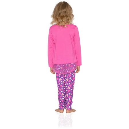 Komar Kids Big Girls' Bunny 2pc Sleepwear Legging Set, Purple, Size: 4 - image 2 of 4