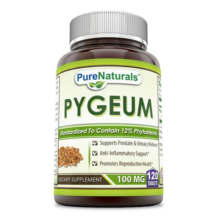 - Pure Naturals Pygeum 100 Mg 120 Tablets