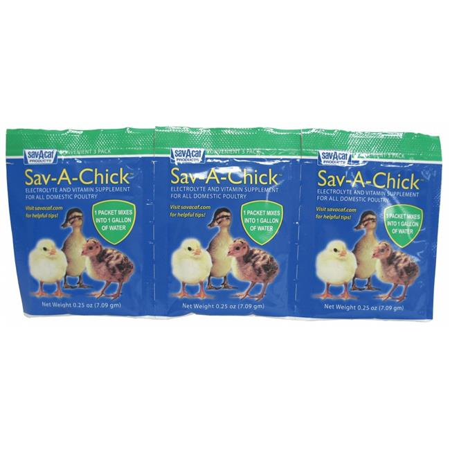 Milk Products,inc Sav-a-chick Electrolyte & Vitamin Supplement 3 Pack-. 25ounce - 01-7451-0202