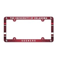 NCAA License Plate with Full Color Frame, Oklahoma Sooners