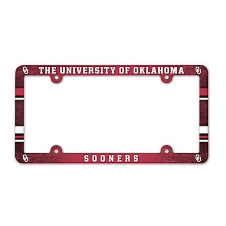 NCAA License Plate with Full Color Frame, Oklahoma Sooners - Oklahoma Sooners License Plate