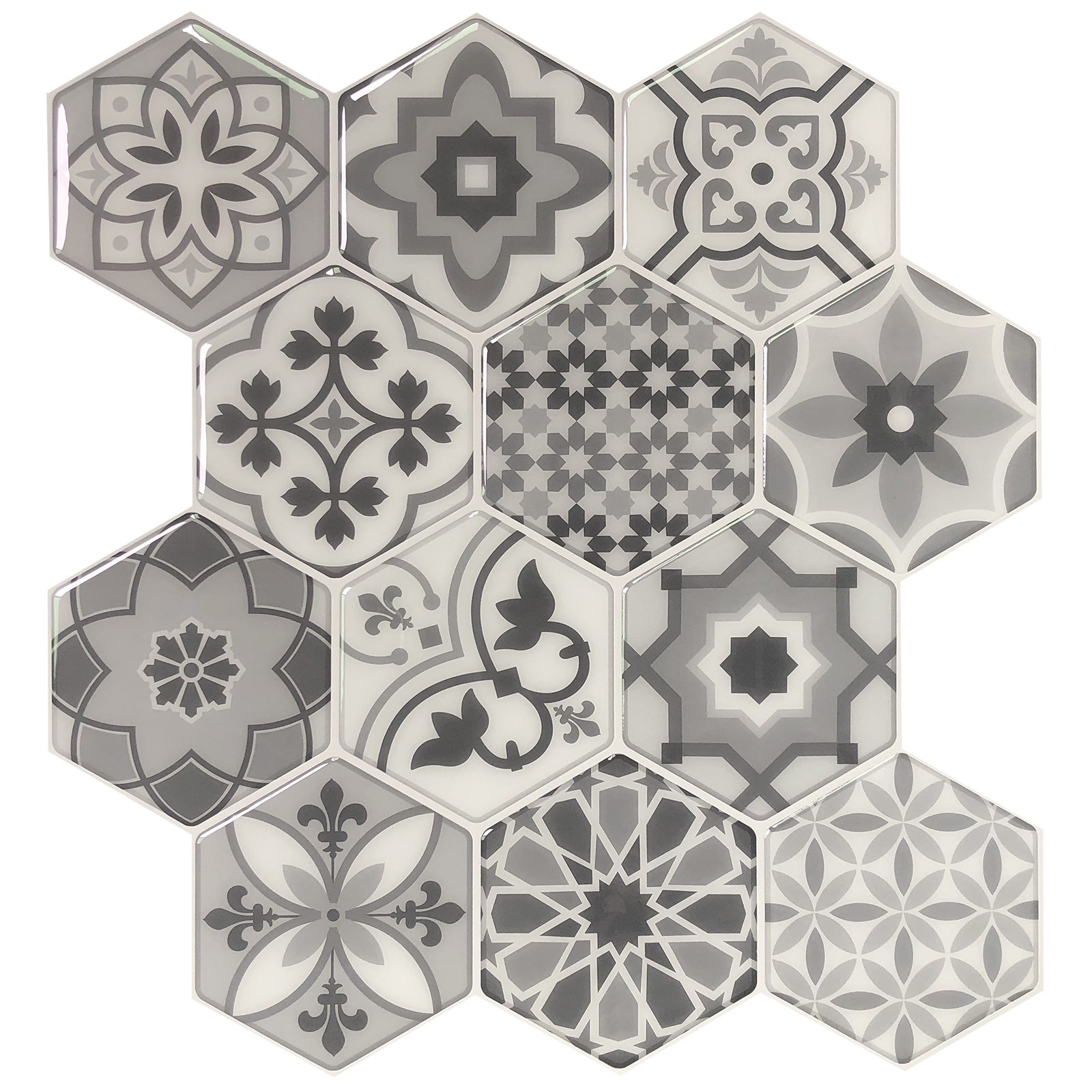 10 Sheets Peel and Stick Backsplash Tiles for Kitchen in Talavera Mexican Tiles
