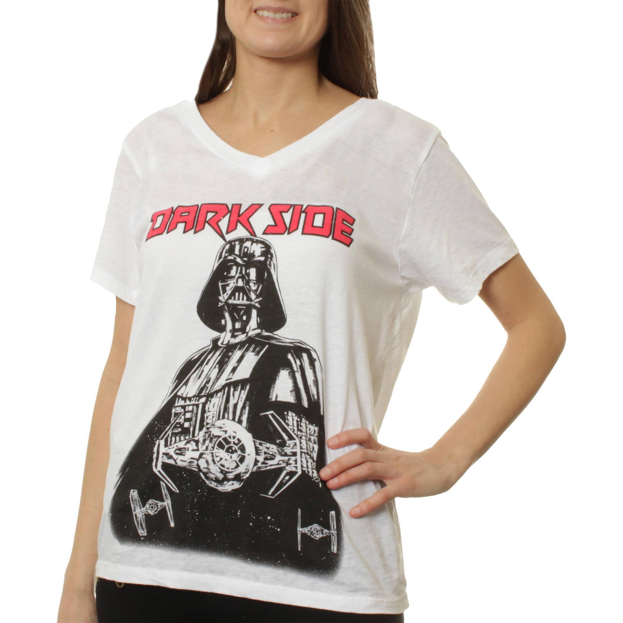 Darth Vader Dark Side Women's Burnout Short Sleeve Graphic Tee T-Shirt