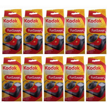 10 Kodak FunSaver Flash 27 Exp Single Use Disposable 35mm Camera EXP 08 2019 by Kodak