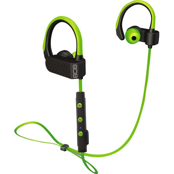 808 Ear Canz Wireless Bluetooth Sport Earbuds Green Wireless Bluetooth Earbuds Walmart Com Walmart Com