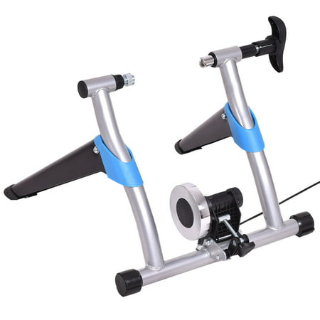 Costway Exercise Bicycle Trainer Stand Stationary Indoor 8 Levels Magnetic Resistance (Magnetic Fluid Trainer)
