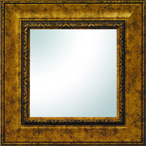 """19"""" x 19"""" Gold Ornate Square Mirror by"""