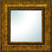 "19"" x 19"" Gold Ornate Square Mirror"
