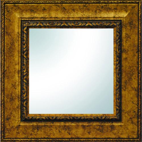 """19"""" x 19"""" Gold Ornate Square Mirror"""