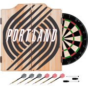 NBA Dart Cabinet Set with Darts and Board - Fade - Portland Trailblazers