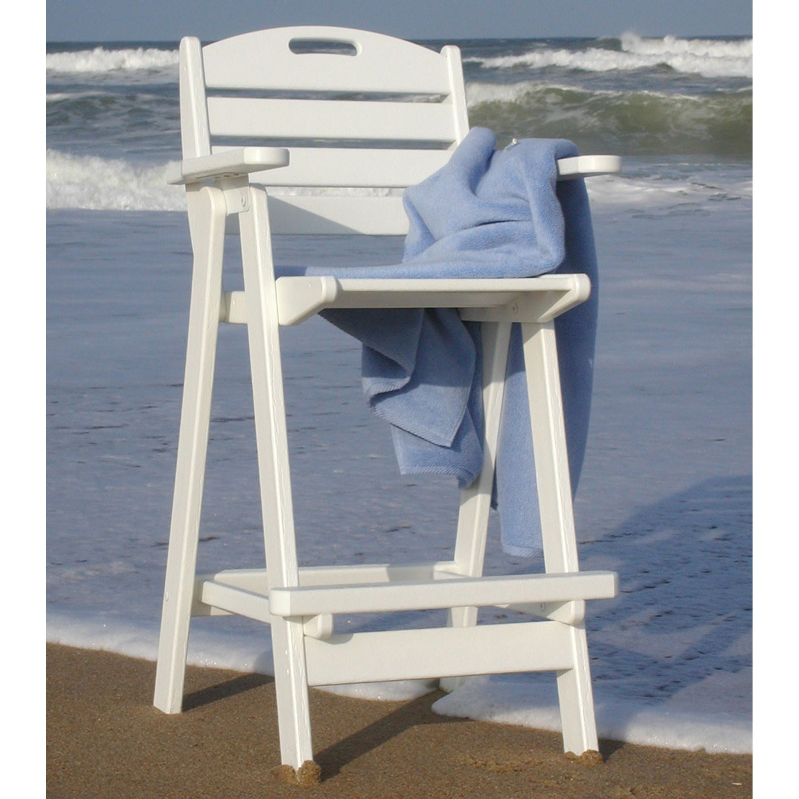 POLYWOOD® Nautical Recycled Plastic Bar Stool