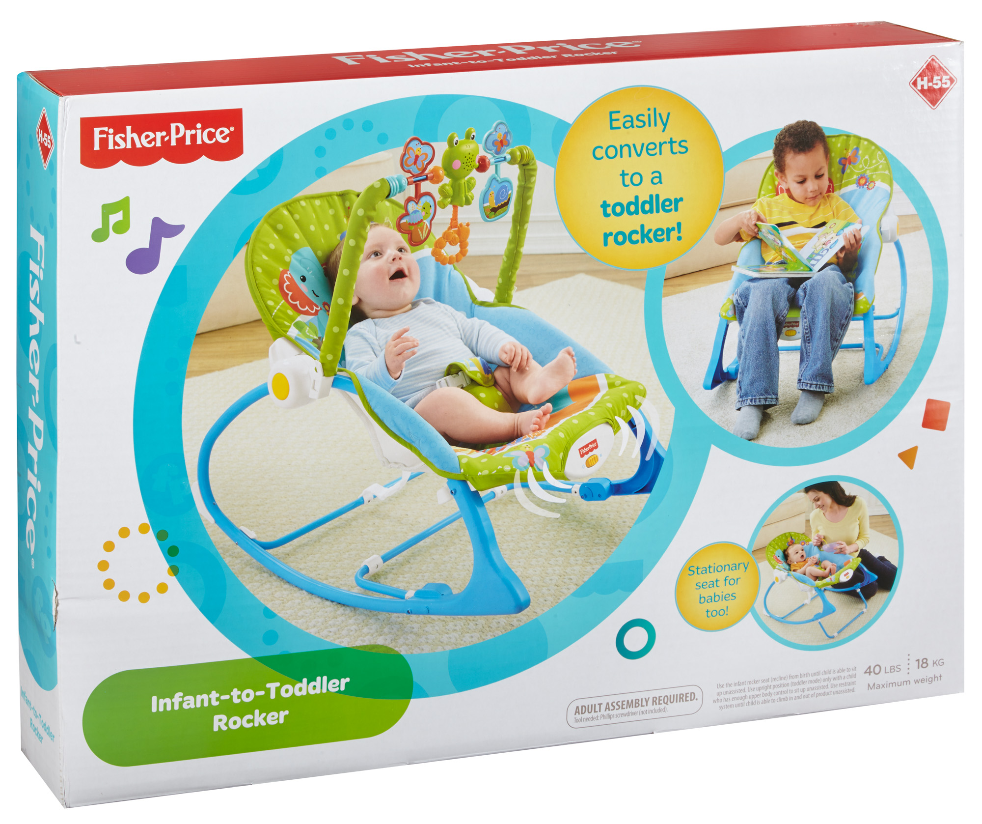 07a371923 Fisher-Price Infant-to-Toddler Rocker